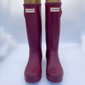 Hunter Original Kids Tall Rain Boots Purple 5G 4B